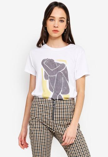 Cotton On white Tbar Fox Graphic T shirt 2242FAA44F3DB4GS_1