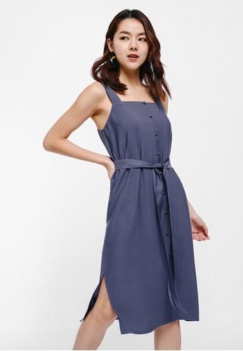 Love, Bonito blue Amelyn Button Up Apron Dress 3620FAA31E27D6GS_1