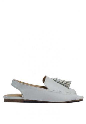 HDY beige Peyton Flat Sandals with Mini Tassels HD484SH0JDF9PH_1