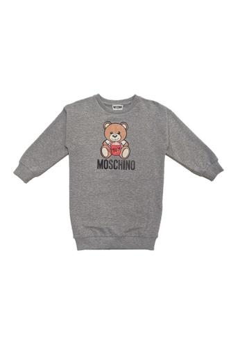 MOSCHINO BABY KID TEEN grey MOSCHINO GIRLS DRESS 0560FKA671455EGS_1
