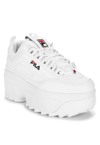 op voeten bij echte schoenen gedetailleerde foto's Disruptor II Wedge Sneakers