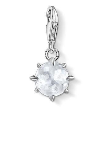 THOMAS SABO white Charm Pendant Birth Stone April 8A6E5AC5A67814GS_1