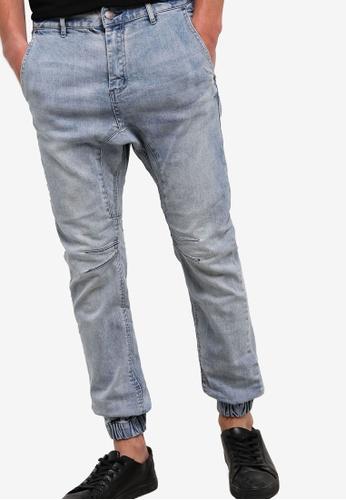 Cotton On 藍色 束口窄管丹寧長褲 CO372AA18LWFMY_1