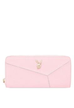 Playboy Bunny pink Playboy Bunny Ladies Zipper Purse 835BDAC0F64382GS_1