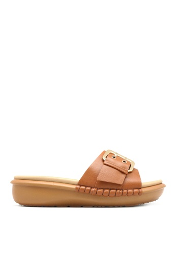 Carlo Rino brown Carlo Rino 33370-C011-05 Slip-on Flat Sandals 39BF8SH3445DAEGS_1