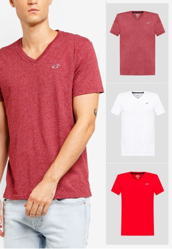 Hollister multi V-Neck Multi Pack T-Shirt 84F01AAB7B5A32GS_1