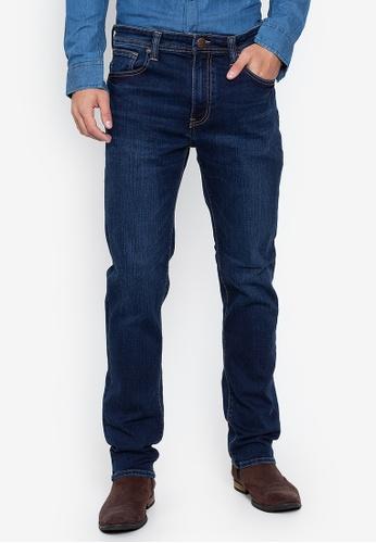 PETROL blue Basic Dark Wash Jeans 427A8AA228B4BAGS_1