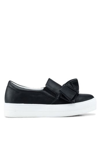 LOST INK 黑色 蝴蝶結厚底懶人鞋 0E764SH28C16D8GS_1