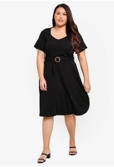 7734d9a7e7 Dorothy Perkins DP Curve Black Horn Buckle Dress RM 209.00. Sizes 18 20 22  24