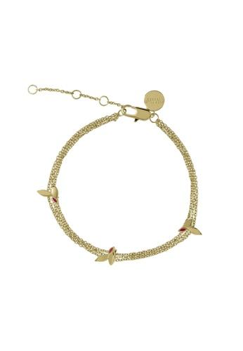 Sara Miller gold Sara Miller - Enamelled Leaf Bracelet - Gold (SAJ3006) F07A1AC084D970GS_1