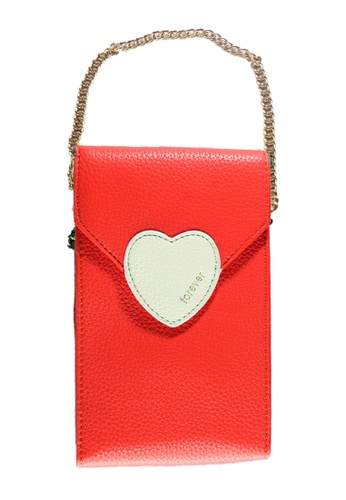 Treasure by B & D red Women PU Sling Bag Heart Lock Design Red TR022AC0K5KIPH_1