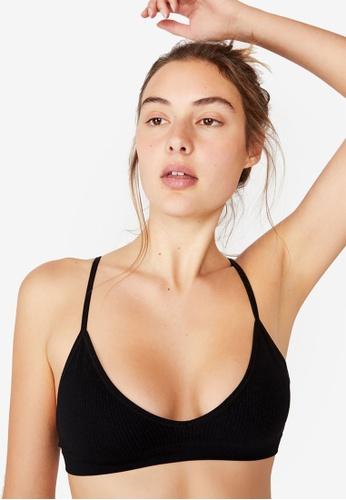 Cotton On Body black Seamless Triangle Bralette D187CUSEDB5FEFGS_1