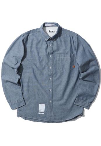 izzue blue Chambray denim shirt 98E01AA03F2646GS_1