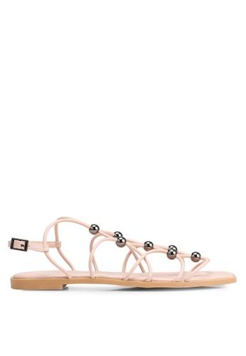 92ed845aa4dcd Buy Nose Multi Hook Strappy Flat Sandals | ZALORA HK