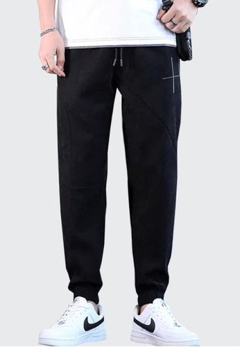 Twenty Eight Shoes black VANSA Solid Color Casual Sport Pants  VCM-P8008 080D1AAB49217FGS_1
