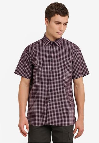 BGM POLO red Checkered Short Sleeve Shirt BG646AA0S0KHMY_1