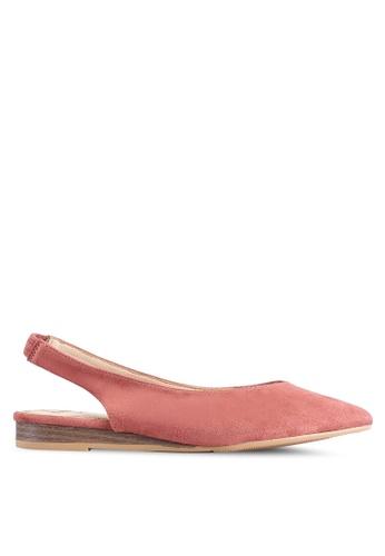 BETSY 粉紅色 Julia 後繞帶平底鞋 C102FSHDB1EBBAGS_1