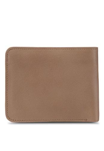 Volkswagen brown Volkswagen Bi-Fold Full Leather Wallet VO089AC18MWBMY_1