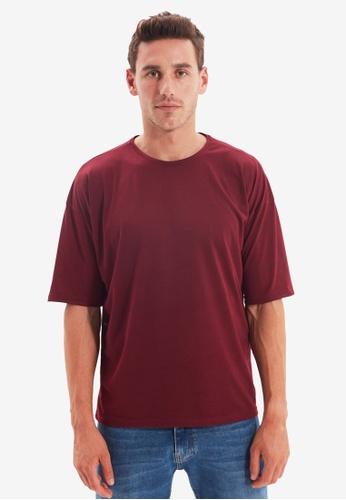 Trendyol red Oversized Short Sleeves T-Shirt 2B632AA3ADB2DCGS_1