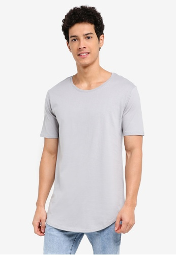 Factorie 灰色 and 藍色 休閒短袖素色T恤 863EDAAE47ECACGS_1
