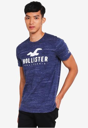 Hollister navy Brand Graphic T-Shirt D715FAAEBDEEA8GS_1
