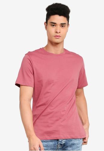 Topman pink Pink Classic T-Shirt 57CD9AA2EE5B3EGS_1