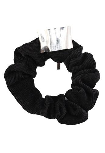 GLOBAL WORK black Ribbed Hair Scrunchie C03A0AC94239A0GS_1