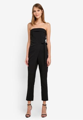 Lavish Alice black Double Layer Bandeau Wrap Tailored Leg Jumpsuit LA457AA0SANGMY_1