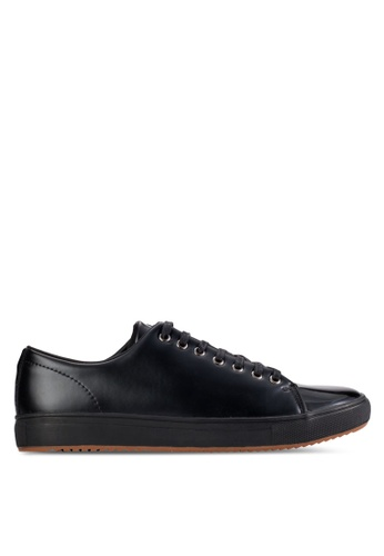 UniqTee black Patent Leather Low-Top Sneakers UN097SH83KGIMY_1
