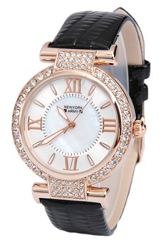 Newyork Army Rhinestone Watch for Women
