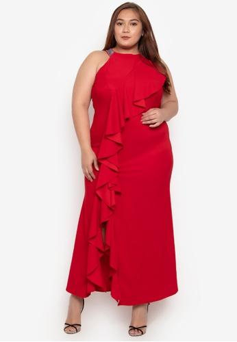 Shop Get Laud Plus Jace Maxi Plus Size Dress Online On Zalora