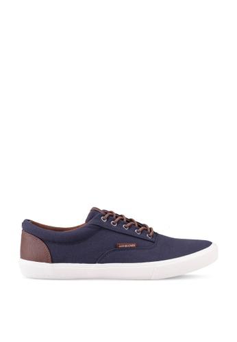 Jack & Jones navy JFWVISION Canvas Sneaker 46D89SH6409ED9GS_1