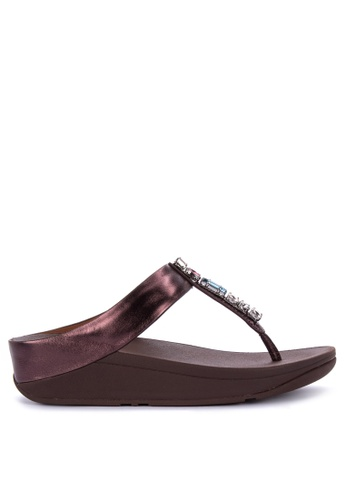 e2d45bbc6b06 Shop Fitflop Fino Bejewelled Sandals Online on ZALORA Philippines