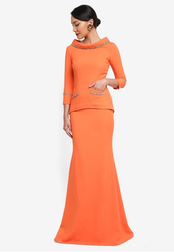 Syomirizwa Gupta for ZALORA orange Fann Dress SY518AA0SXLRMY_1