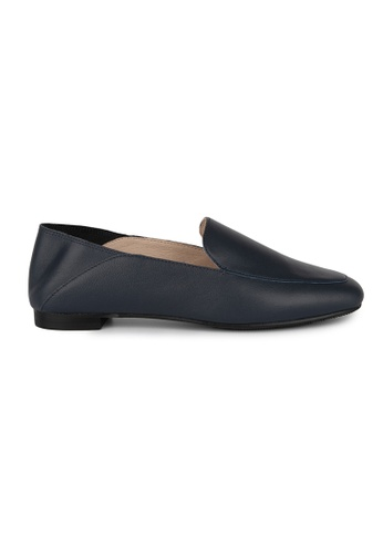 MAUD FRIZON navy Leather Square Toe Loafers 3F99BSH123603EGS_1
