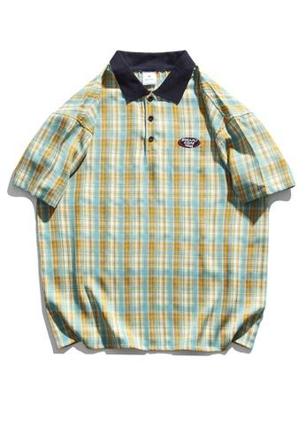 Twenty Eight Shoes The Monogrammed Plaid Polo Shirt HH1109 B1A0DAA420374AGS_1