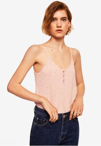MANGO pink Fine Knit Top 0C545AA66BA0E9GS_1