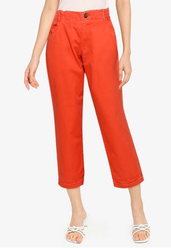 JACQUELINE DE YONG 紅色 and 橘色 縮口褲 362A7AA69D665DGS_1