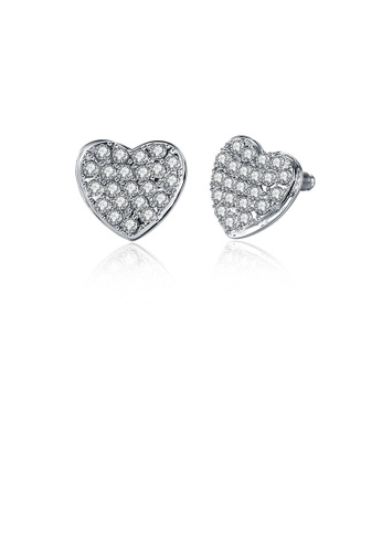 Glamorousky white Brilliant Romantic Heart Stud Earrings with Austrian Element Crystal FB4D2AC8B4148DGS_1