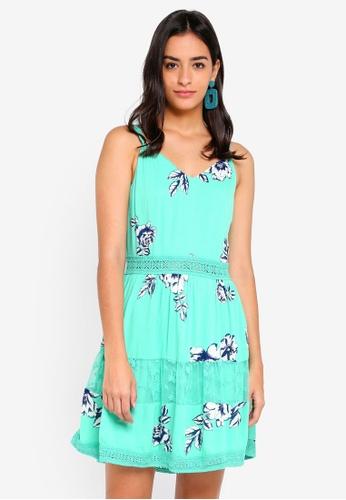 ONLY multi Annie Sleeveless Lace Blocking Dress 5DA32AAD877F5CGS_1