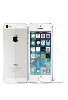 Premium HD Clear Plastic Screen Protector For IPhone 5/5s Front and Back