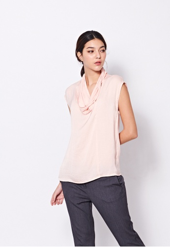 Sisley pink Blouse with Sash 26F24AA87A14F8GS_1