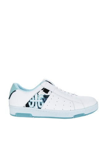 Royal Elastics white and green Icon Leather Sneakers RO796SH2UYLUHK_1