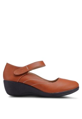 Louis Cuppers 褐色 質感楔型鞋 91FC6SHCE5D3E3GS_1