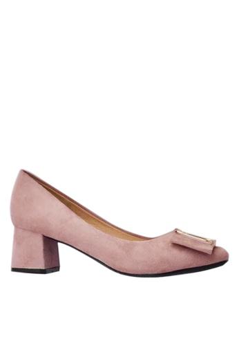 Twenty Eight Shoes Square Buckle Pumps 1270-16 7E006SHD47C242GS_1