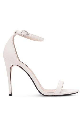 ZALORA 白色 Classic Ankle Strap Heels 1B540SH69E55BBGS_1