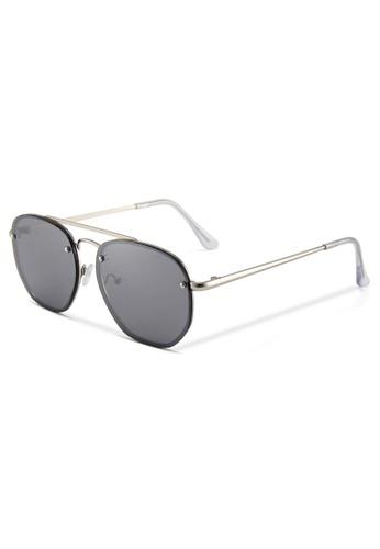 Quattrocento Eyewear Quattrocento Eyewear Italian Sunglasses with Dark Lenses Model Russo 4B2FFGLFB2F699GS_1