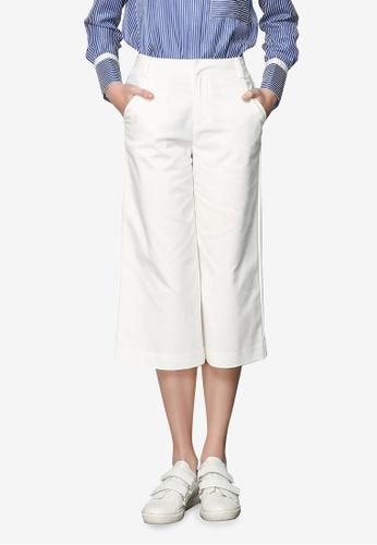Hopeshow white Straight Cut Pants 3AC75AA219A930GS_1