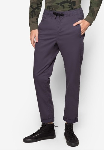 The zalora taiwan 時尚購物網鞋子Stanton 抽繩彈性九分牛仔褲, 服飾, 長褲