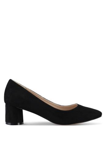 ZALORA 黑色 Round Chunky Low Heels 212F8SH4E8BEC3GS_1